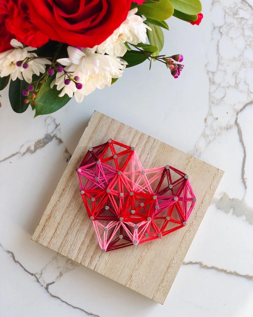 EASY Heart String Art DIY