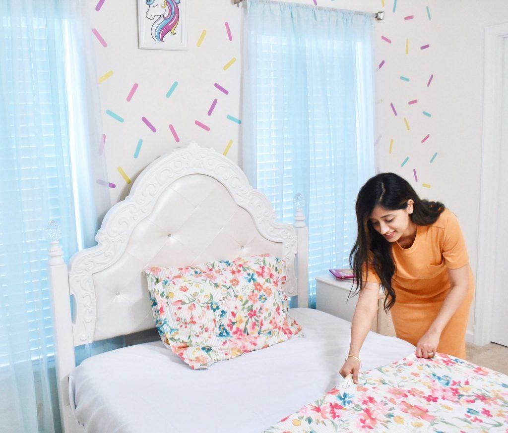 DIY Girl Room Wall Paint Sprinkles