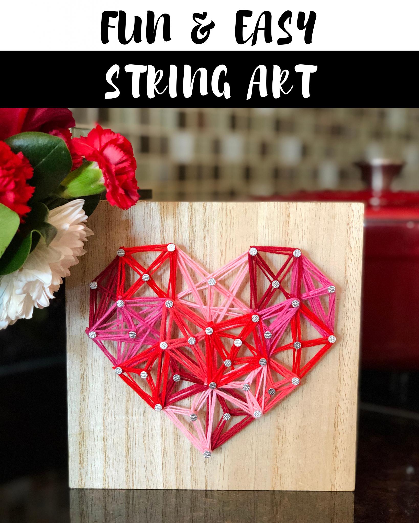 Fun & Easy Heart String Art