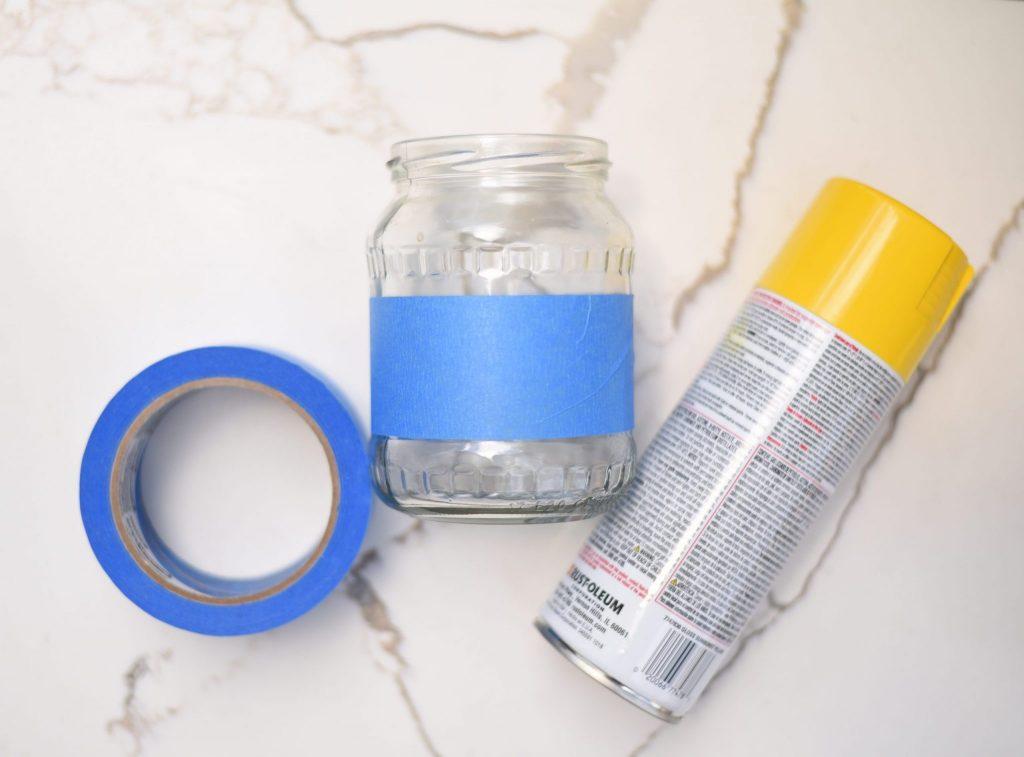 Glass Jar DIY Spray Paint