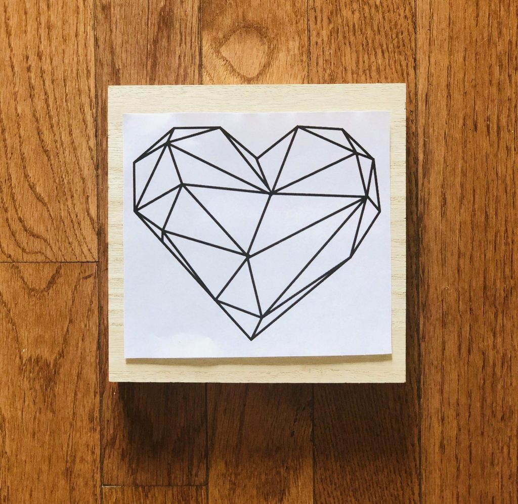 Heart String Art Print Out