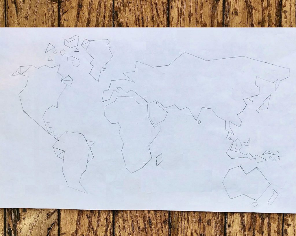 World Map DIY Paper Design