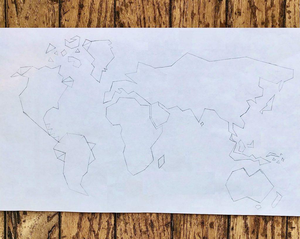 World Map DIY Paper Design