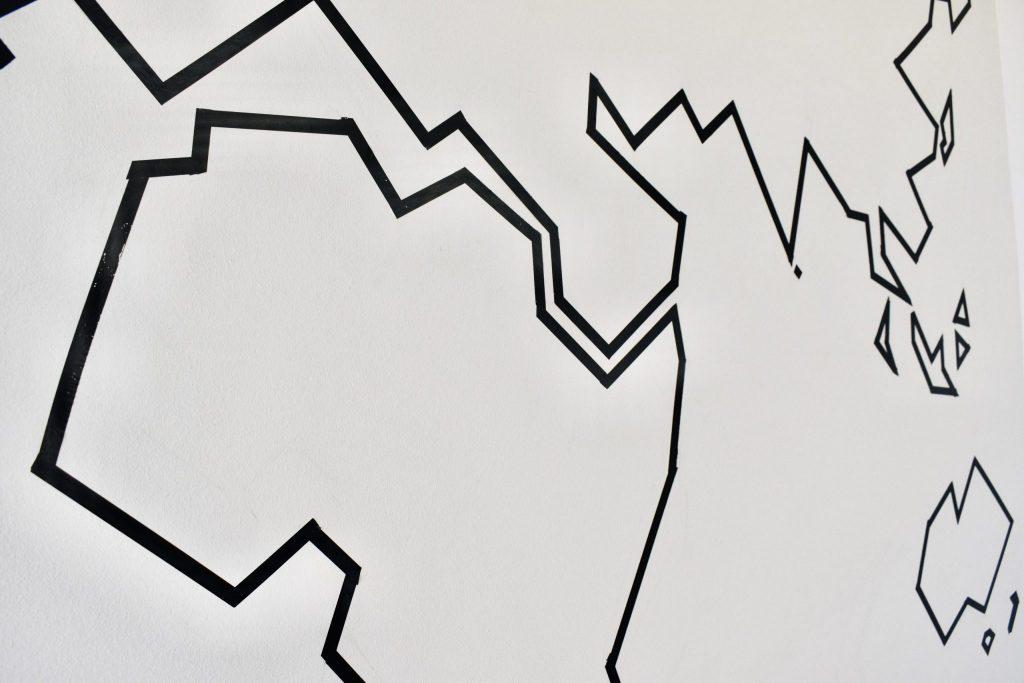 World Map DIY Wall Decor