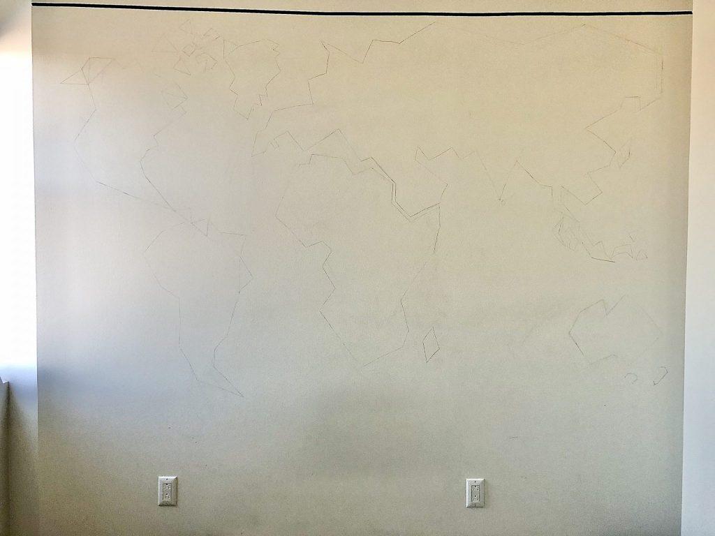 World Map DIY Wall Design