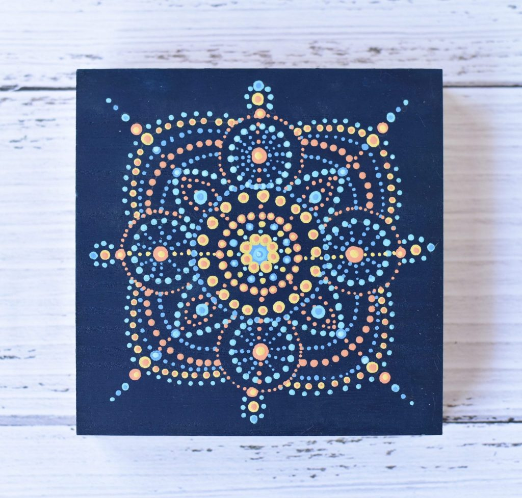 Blue Dot Mandala Design