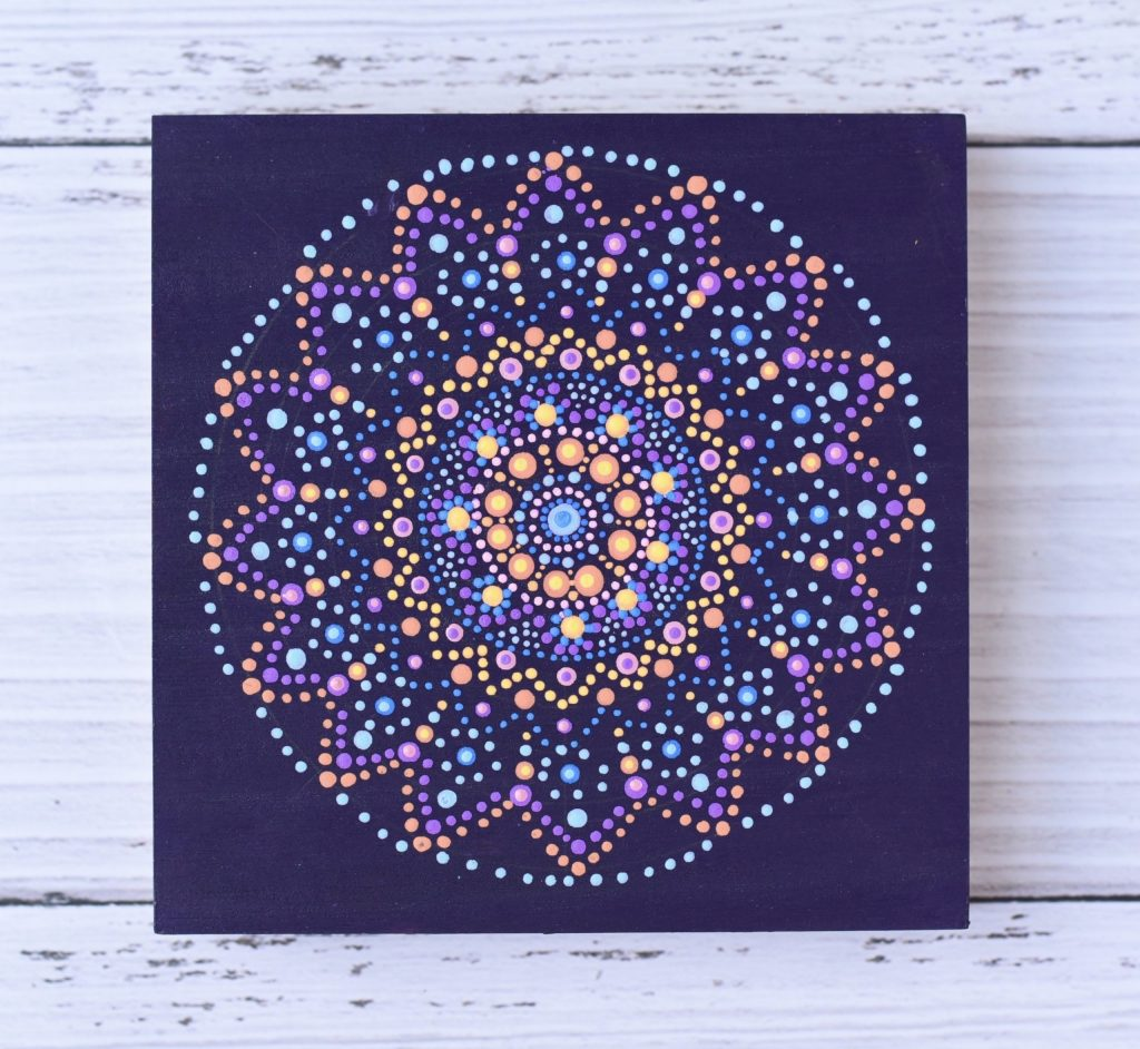 Purple Dot Mandala