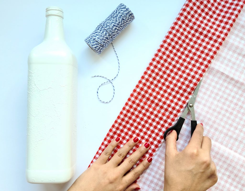 Cut Cloth for Wine Bottle Craft