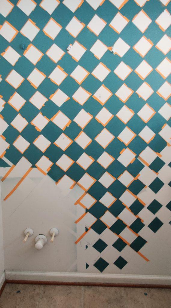 Lattice Diamond Tape Wall Art - Remove Tape