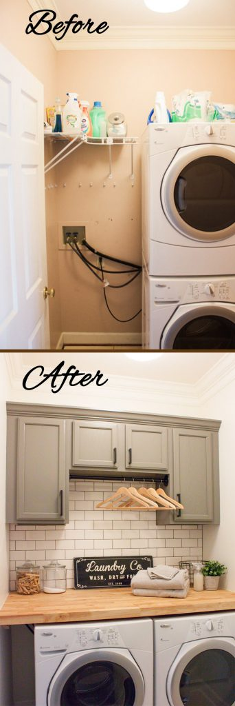 Extra Storage DIY Laundry Room