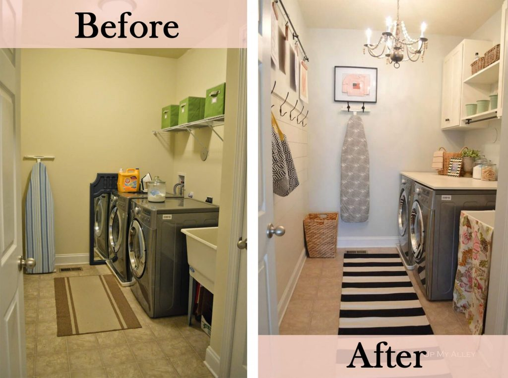 Pretty Chic and Organized DIY Laundry Room