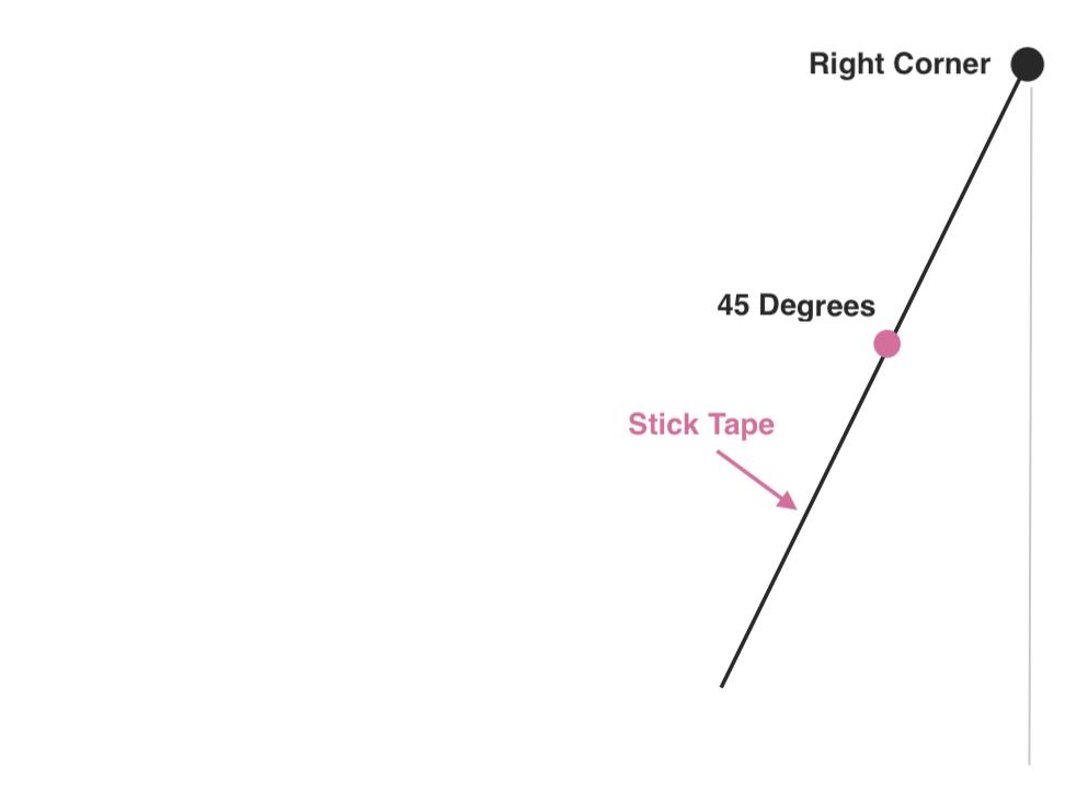 Right Corner - Measure 45 angle