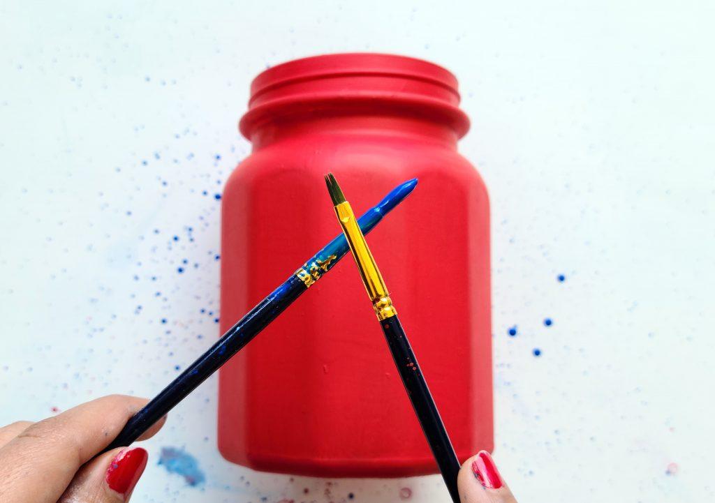 Splatter Paint on Jar