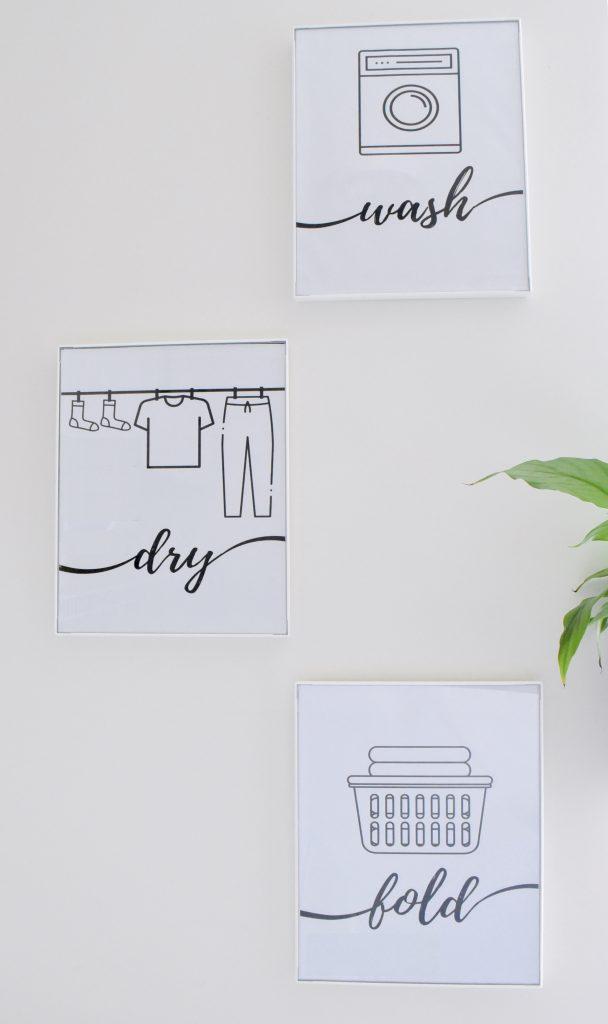Wash Dry Fold Wall Decor- DIY Laundry Room Ideas