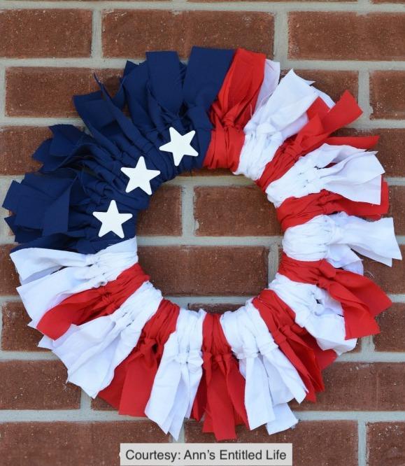 DIY Flag Wreath