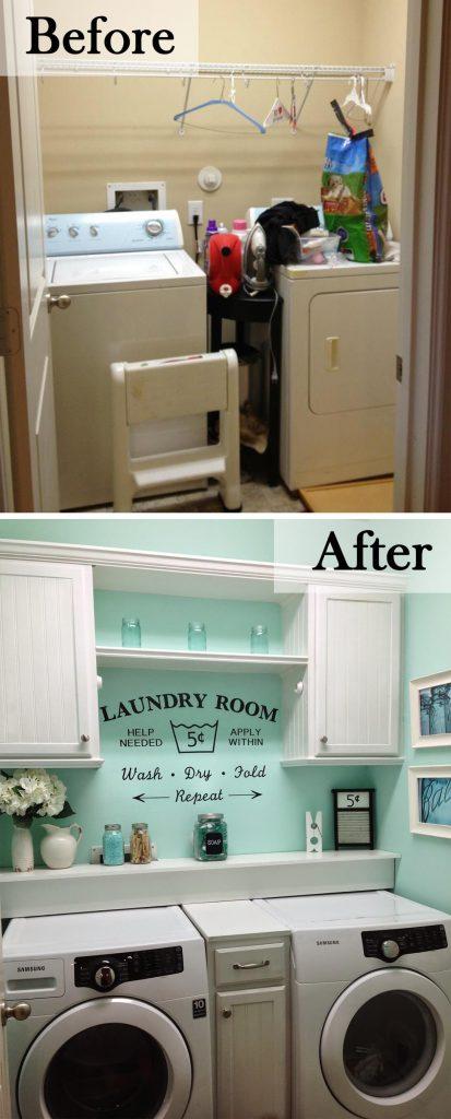 Bright Color DIY Laundry Room