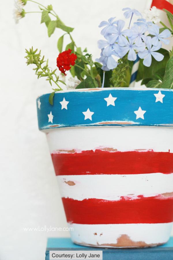 Patriotic Flower Pot