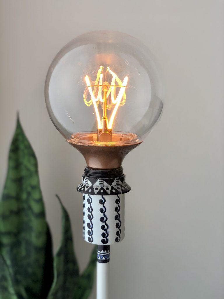 Ikea Lamp Makeover Closeup